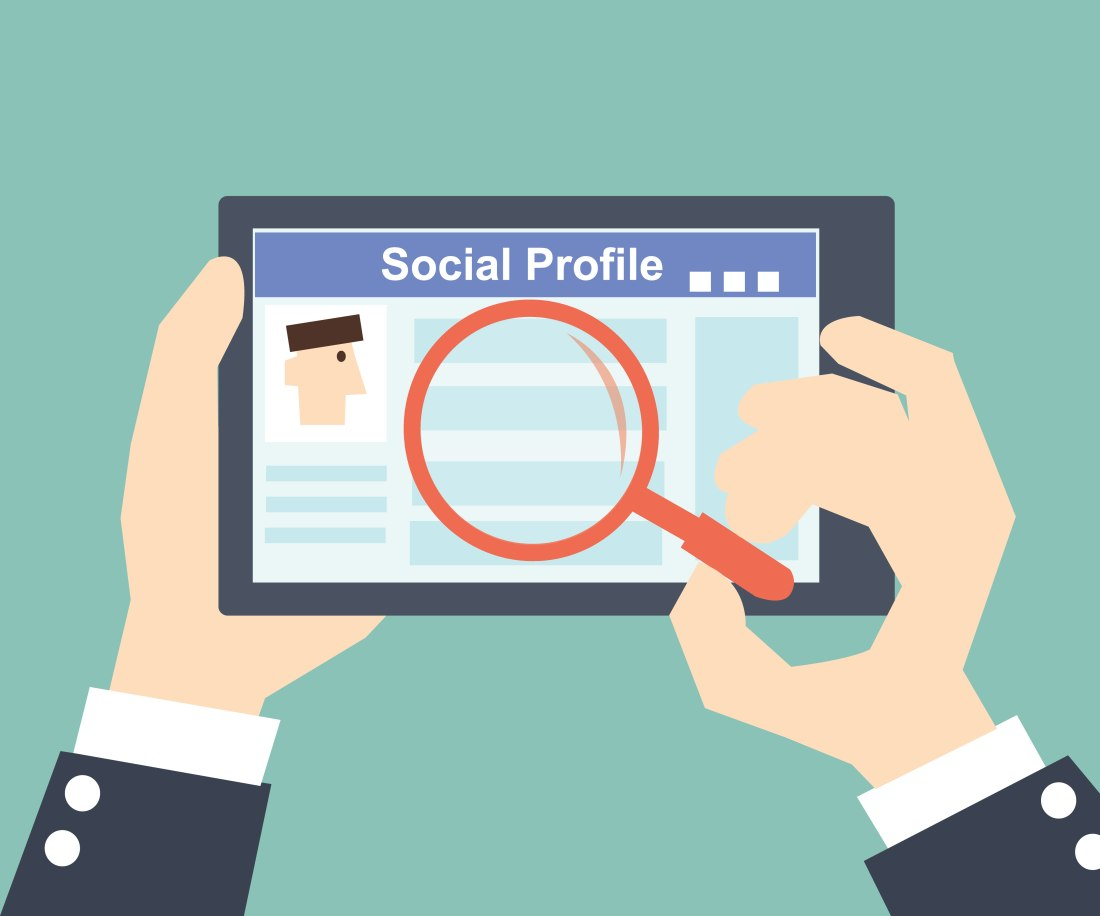 Search Social Profile -Tablet with social network